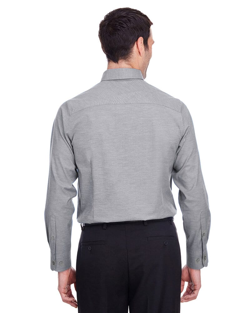 Devon & Jones DG562 - Men's Crown  Collection Stretch Pinpoint Chambray Shirt