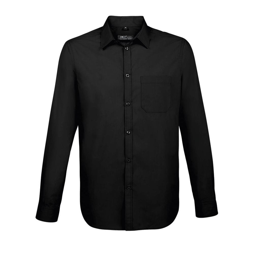 Sol's 02922 - Camisa Popelina Hombre Manga Larga Baltimore Fit