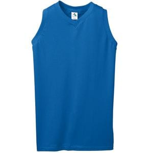 Augusta Sportswear 556 - Ladies Sleeveless V Neck Poly/Cotton Jersey
