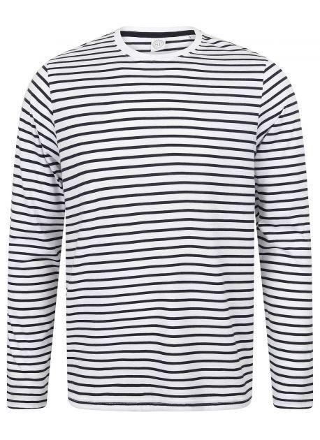 SF Men SF204 - Unisex Long Sleeved Striped T