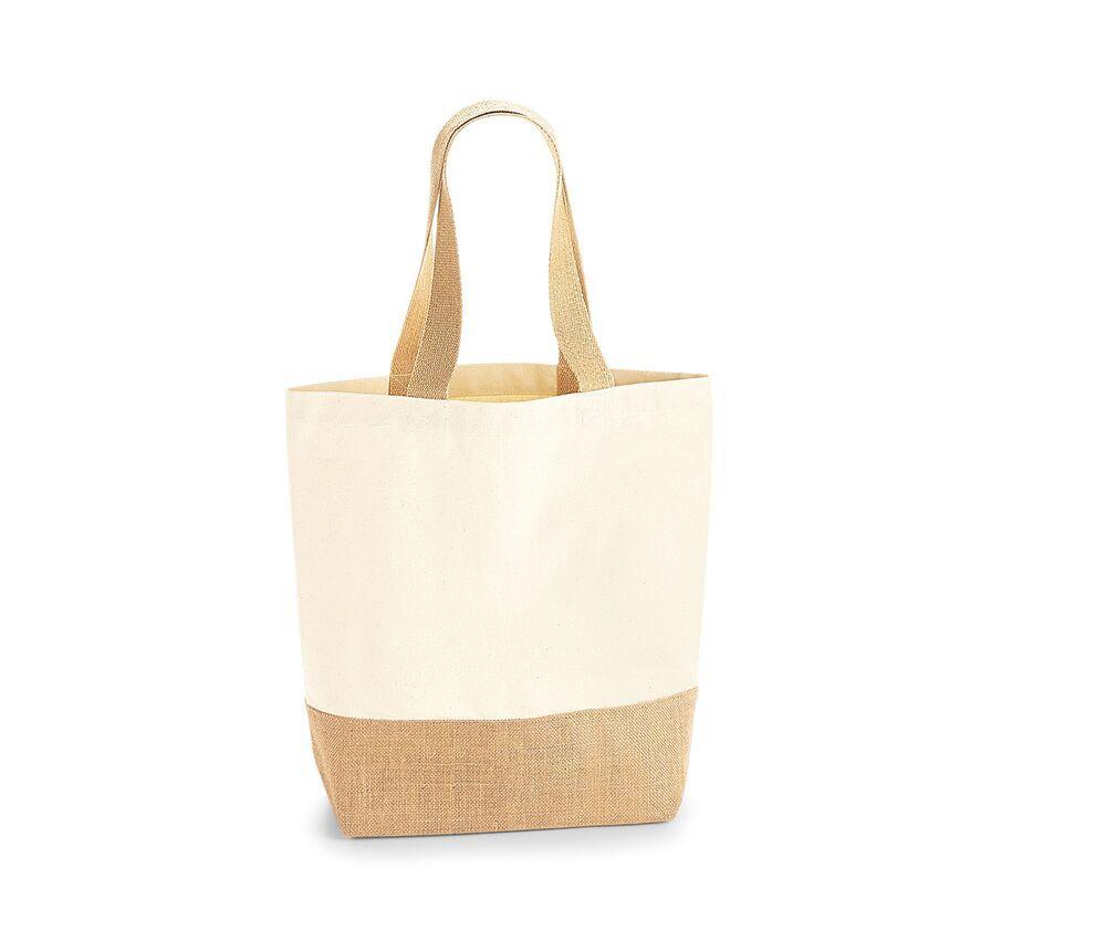 Westford mill WM450 - Cotton / jute canvas shopper bag