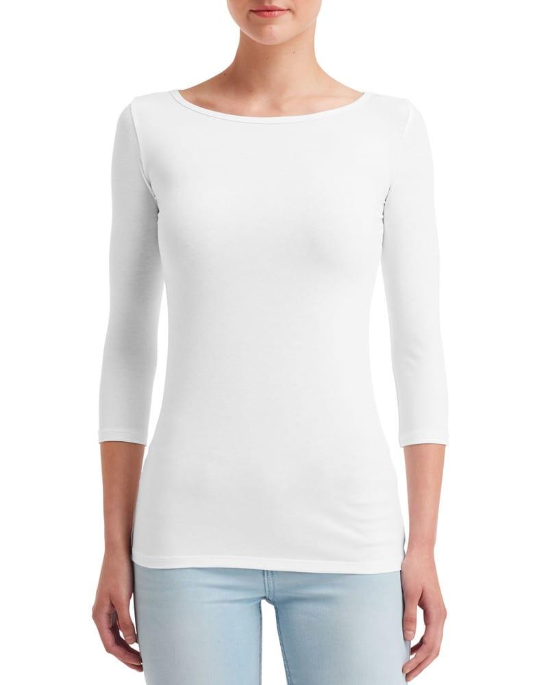 Anvil ANV2455L - T-shirt Stretch Manches 3/4 pour Femme