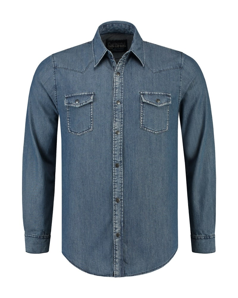 Lemon & Soda LEM3960 - Denim Shirt LS for him