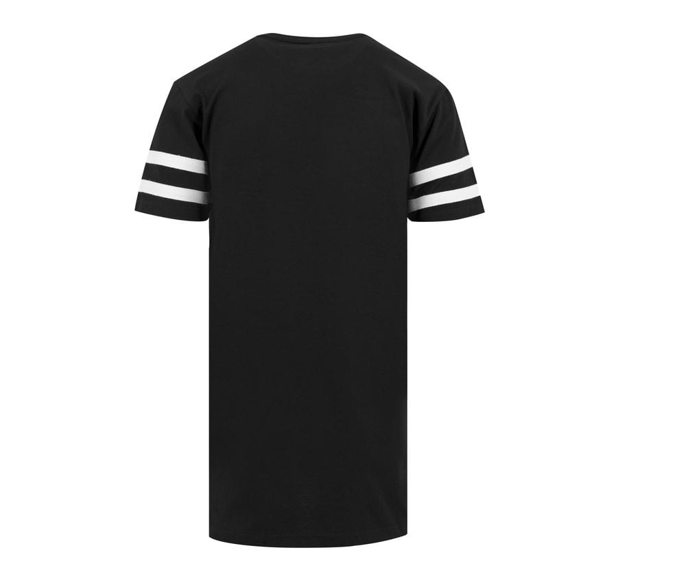 Build Your Brand BY032 - T-shirt striped sleeves