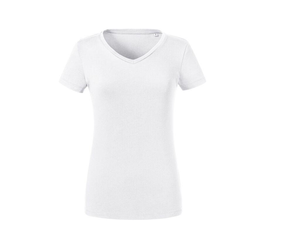 RUSSELL RU103F - Women's organic V-neck t-shirt