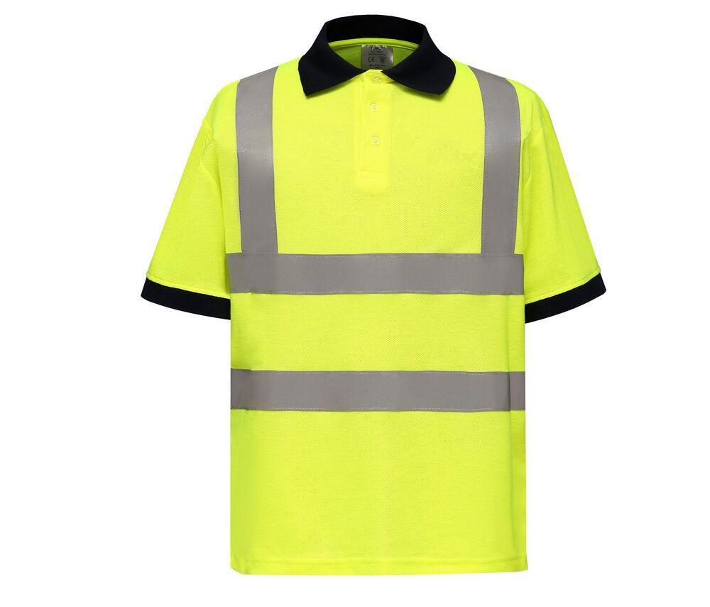 Yoko YK210 - High visibility short-sleeved polo shirt