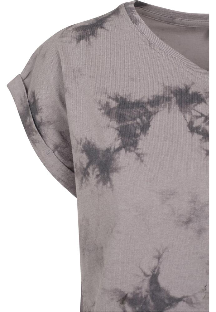 Build Your Brand BY055 - Ladies Batik Dye Extended  Shoulder Tee