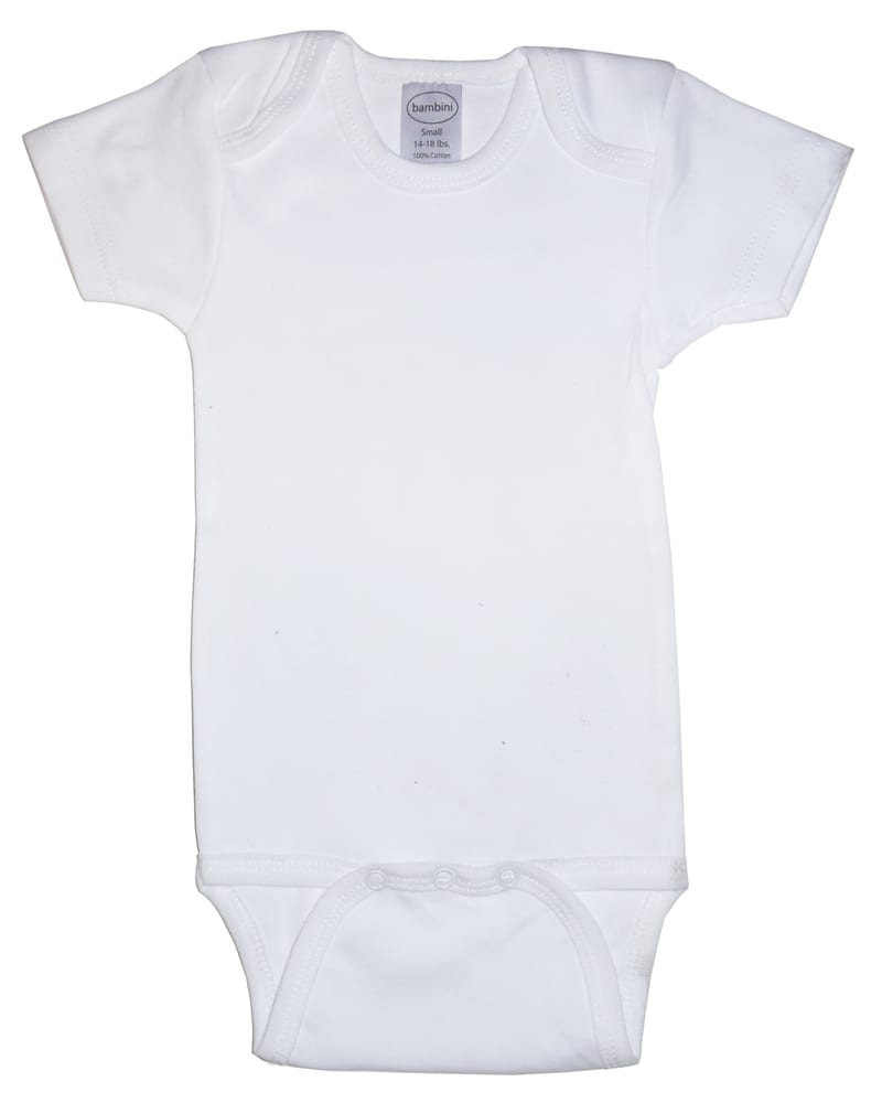 Infant Blanks 001B - Short Sleeve one piece