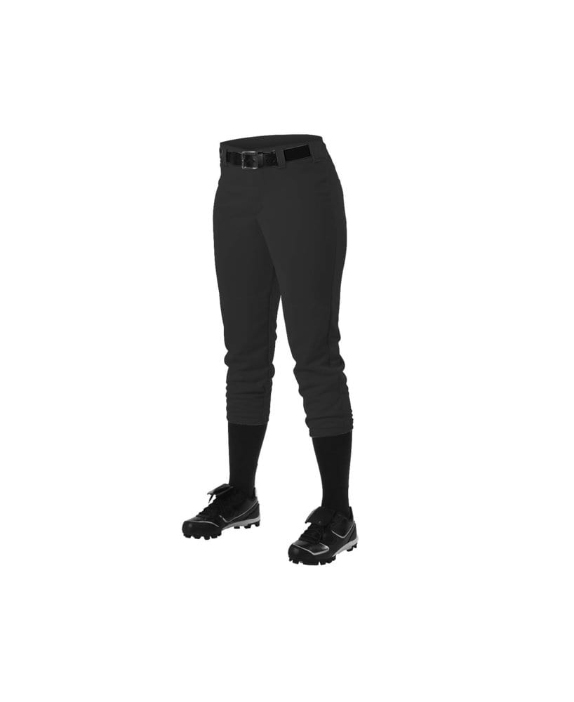 Alleson Athletic 605PBWY - Alleson Girl's Belt Loop Fastpitch Pant