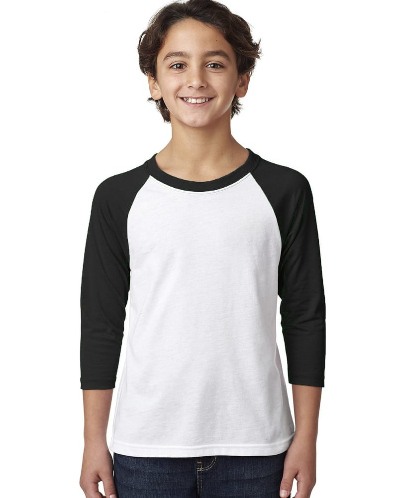 Next Level 3352 - Youth CVC 3/4 Raglan T-shirt