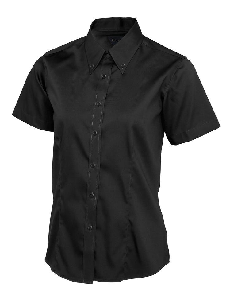 Uneek Clothing UC704 - Ladies Pinpoint Oxford Half Sleeve Shirt