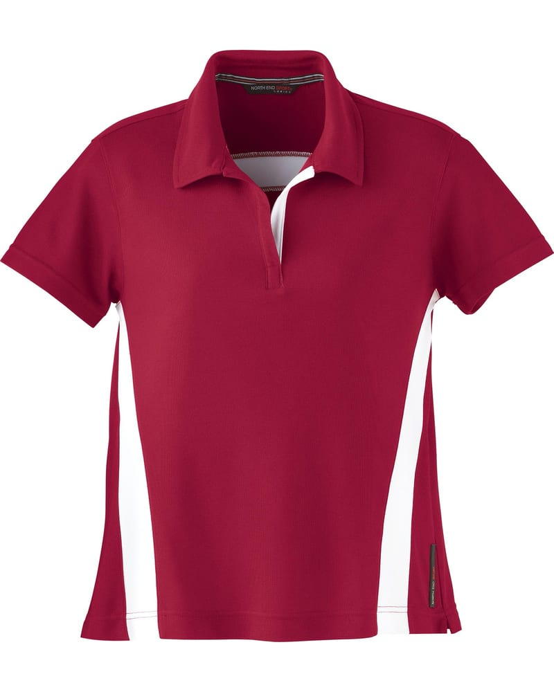 North End 78616 - Ladies Polyester Pique Polo with Stripe