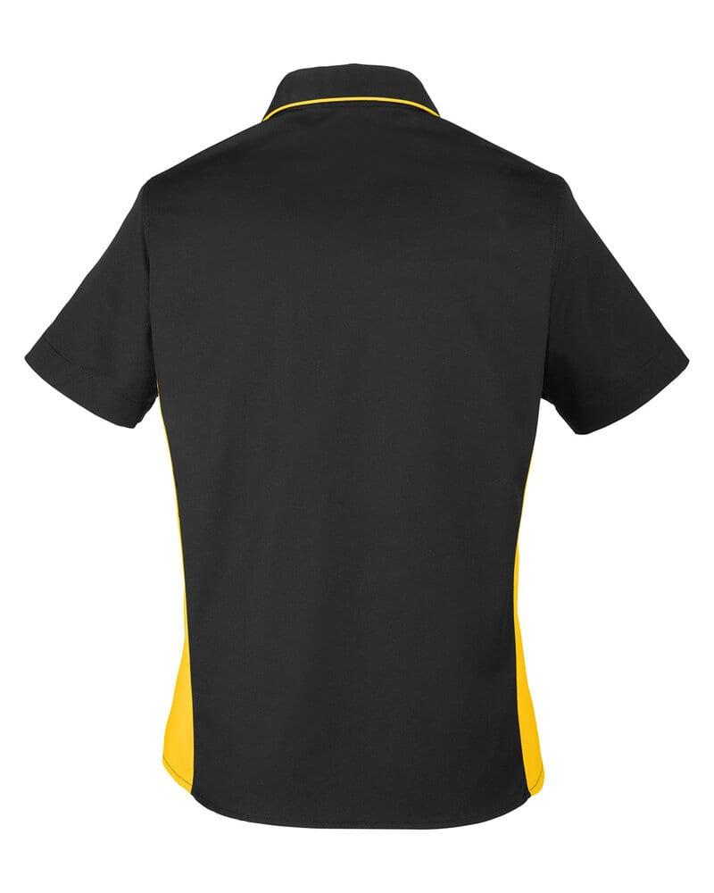 Harriton M586W - Ladies Flash IL Colorblock Short Sleeve Shirt