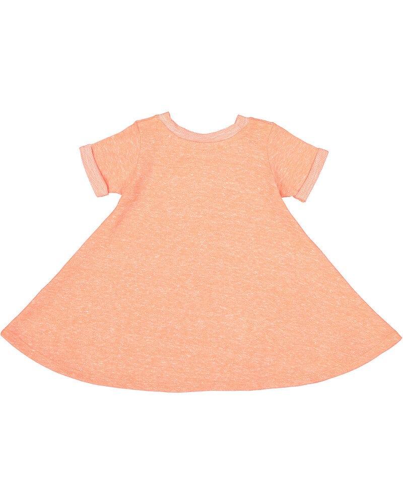 Rabbit Skins 5379 - Toddler Girl's Harborside Melange French Terry Twirl Dress
