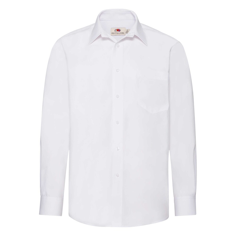 Fruit Of The Loom F65118 - Mens L/S Poplin Shirt