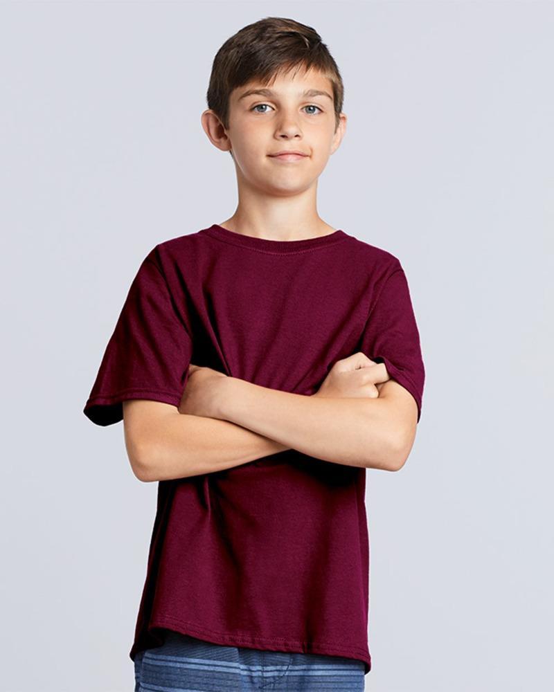 Gildan 5000B - T-shirt en coton épais pour jeunes 8,9 oz