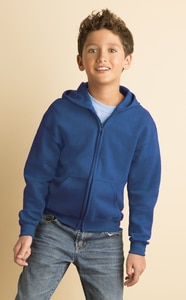 Gildan 18600B - FULL ZIP HOODED SWEATSHIRT 8 oz.
