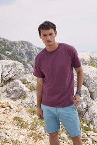 Fruit of the Loom SC221 - T-Shirt Homme Manches Courtes 100% Coton