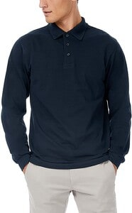 B&C CGSAFML - Polo Manches Longues Homme 100% Coton