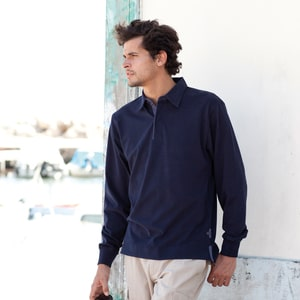Front Row FR43 - Brushed LSL Rugby Shirt - Polo Rugby Émerisé