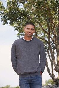 Fruit of the Loom SC163 - Sweatshirt Homem Manga Reta