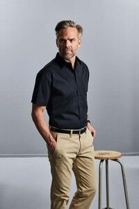 Russell Collection RU937M - Short Sleeve Pure Cotton Easy Care Poplin Shirt