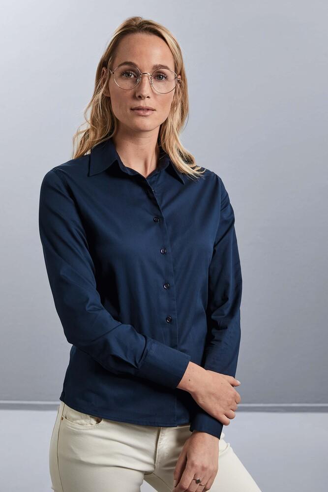 Russell Collection RU916F - Twill Ladies Shirt - Chemise Manches Longues En Coton Sergé Pour Femme