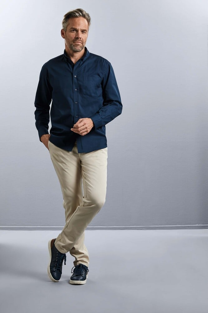 Russell Collection RU916M - Men's Long Sleeve Classic Twill Shirt