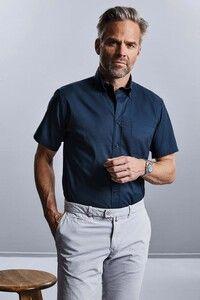 Russell Collection RU917M - Klasyk. Męska koszula z krótkim rękawem.