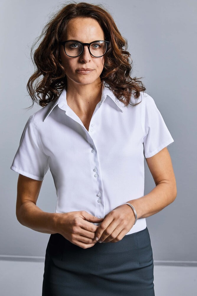 Russell Collection RU957F - Ladies` Oxford Bluse