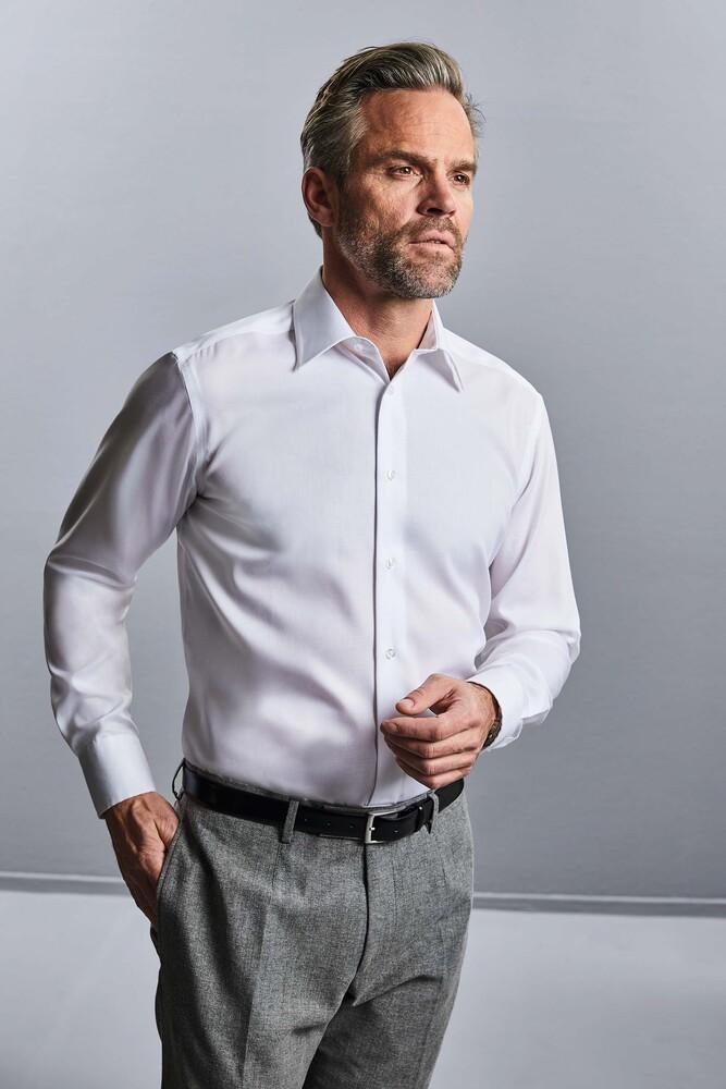 Russell Collection RU958M - Bügelfreies tailliertes Hemd LA