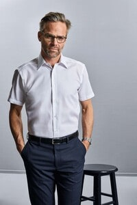 Russell Collection RU959M - Mens Short Sleeve Tailored Ultimate Non Iron Shirt