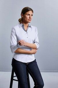 Russell Collection RU946F - Ladies 3/4 Sleeve Fitted Shirt