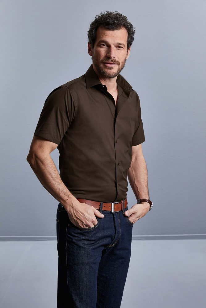 Russell Collection RU947M - Men's Short Sleeve Fitted Shirt