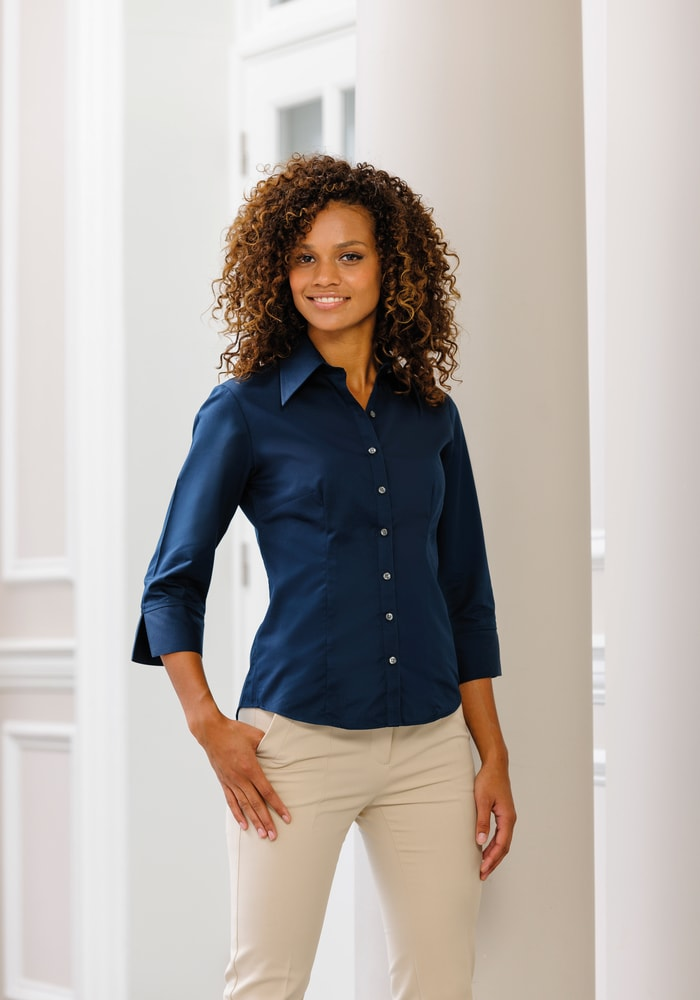 Russell Collection RU954F - Ladies' 3/4 Sleeve Tencel® Fitted Shirt
