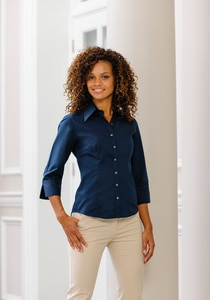 Russell Collection RU954F - Ladies 3/4 Sleeve Tencel® Fitted Shirt