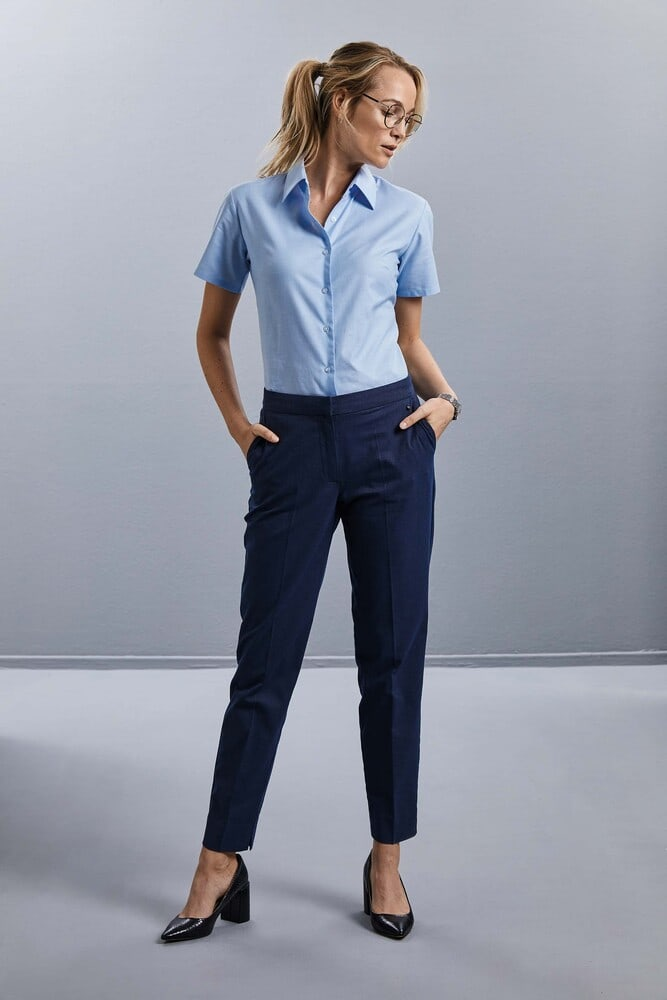 Russell Collection RU933F - Ladies' Short Sleeve Easy Care Oxford Shirt