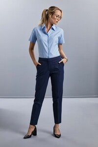 Russell Collection RU933F - Ladies Short Sleeve Easy Care Oxford Shirt