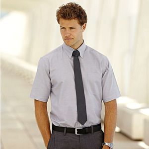Fruit of the Loom SC65112 - Camisa Homem Oxford Manga Curta