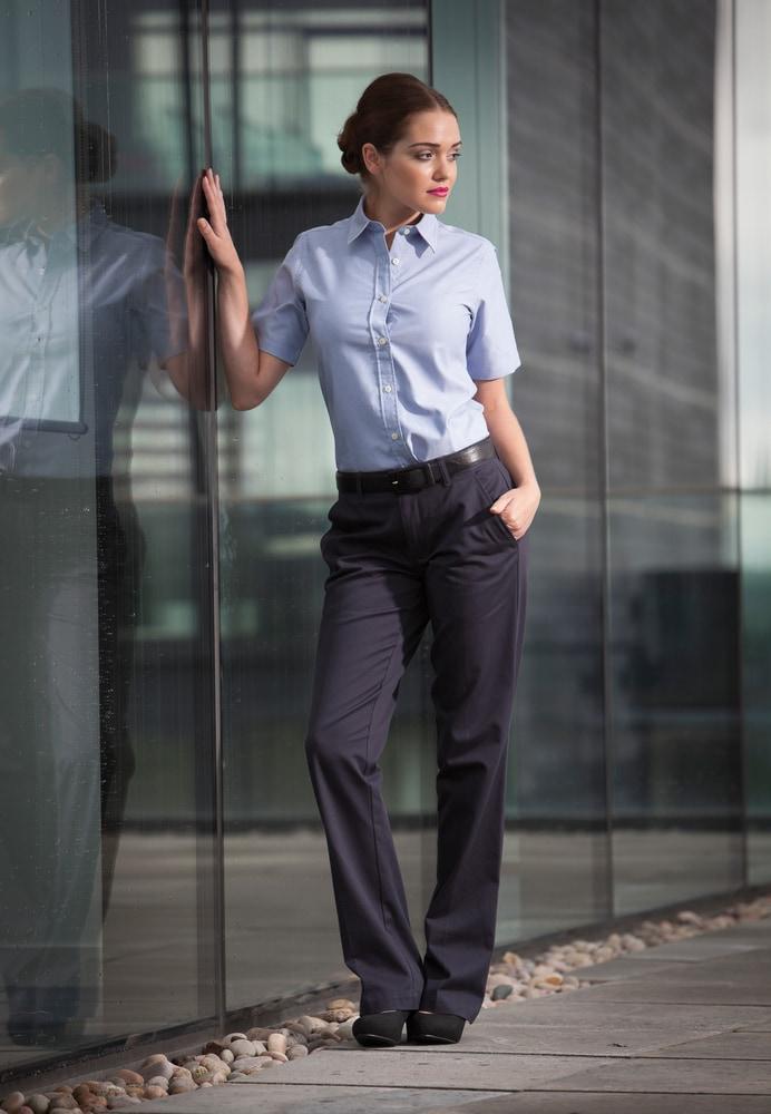 Henbury H602 - Calças Chino De Senhora - Flat Front Chino