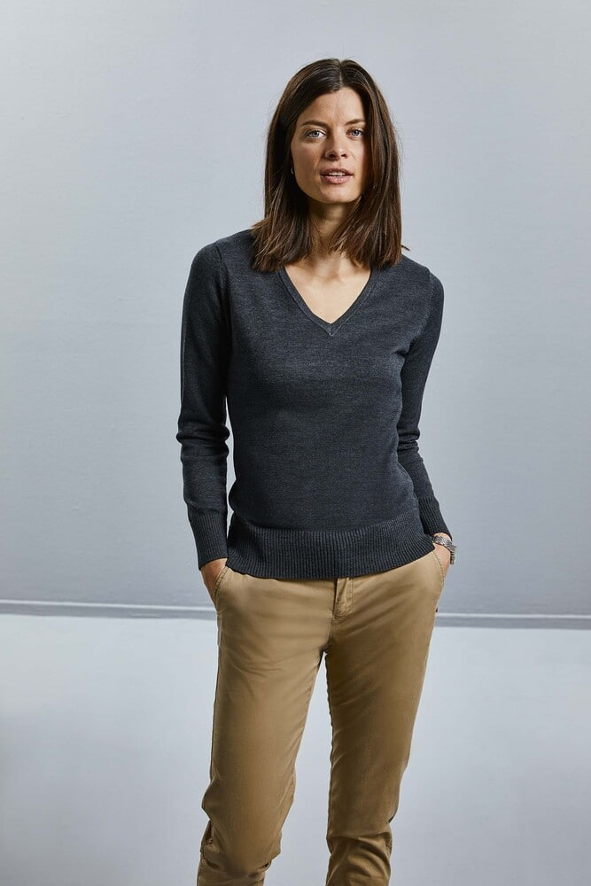 Russell Collection RU710F - Ladies' V-Neck Pullover