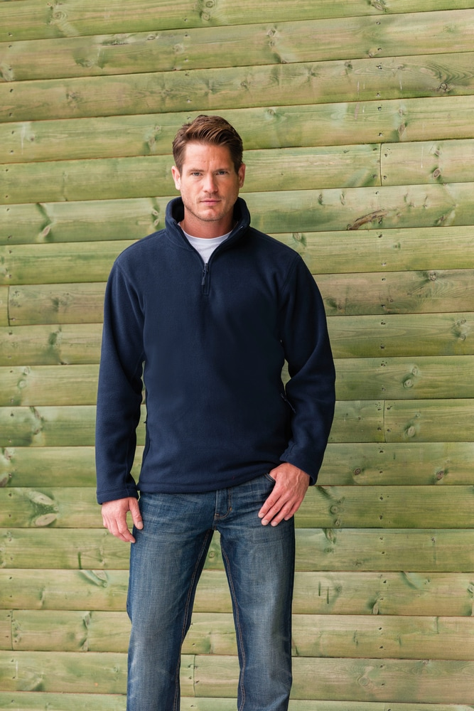 Russell RU8740M - Men's Quarter Zip Outdoor Fleece