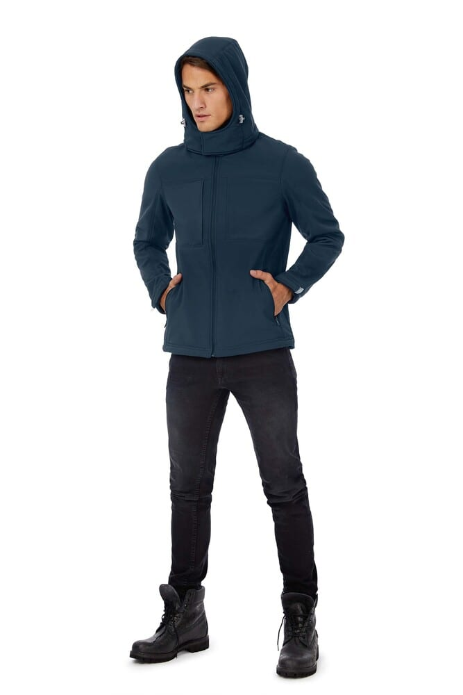 B&C CGJM950 - Hooded Softshell Men