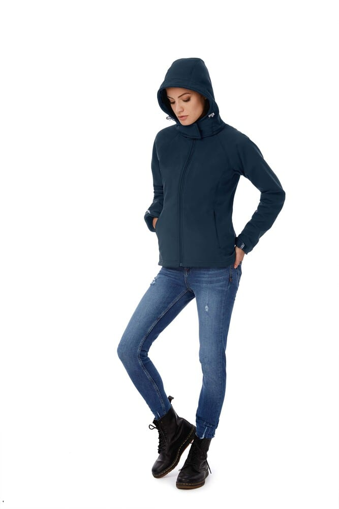 B&C CGJW937 - Ladies` Hooded Softshell - JW937