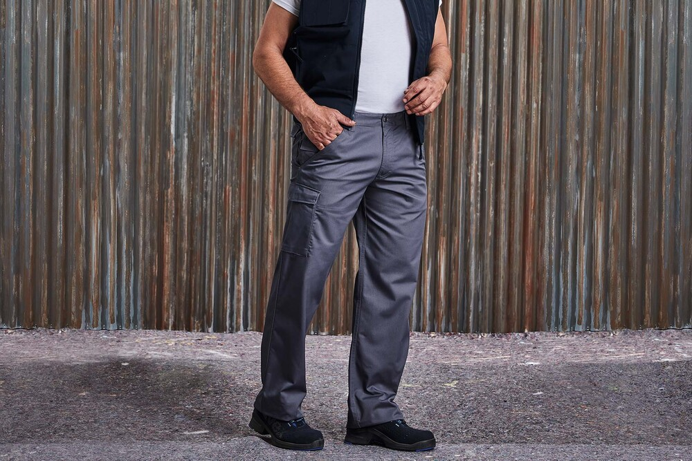 Russell RU001M - POLYCOTTON TWILL TROUSERS