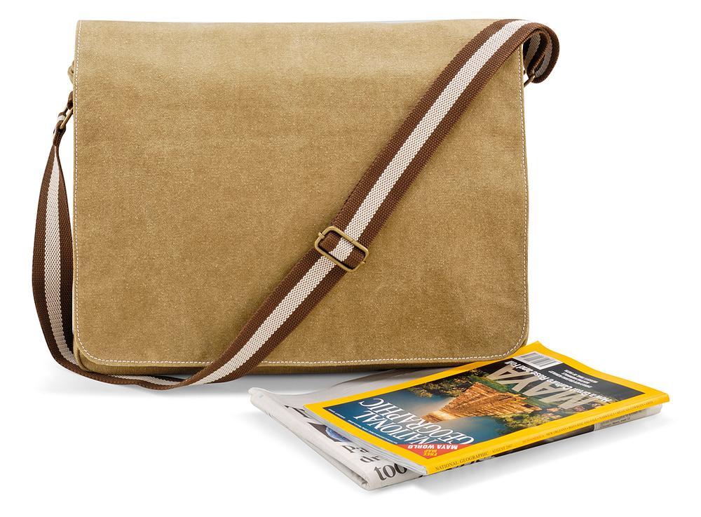 Quadra QD610 - Vintage Canvas Despatch Bag