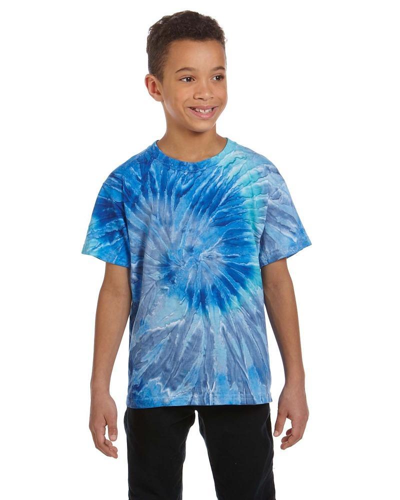 Tie-Dye CD100Y - T-shirt pour enfant teint noué 100% coton, 5,4 oz