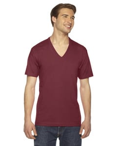 American Apparel  2456  Unisex Fine Jersey Short-Sleeve V-Neck