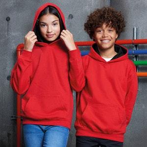 AWDis Hoods JH03J - Blusão com capuz para criança