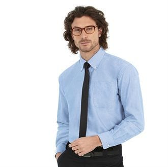 camisa oxford manga larga